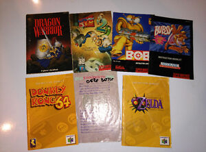 SNES GAME MANUALS AND STRATEGY GUIDES - SEE PIC
