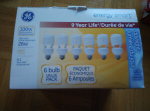 NEW: GE Energy Smart 26W=100W daylight light bulbs (3 in a box)