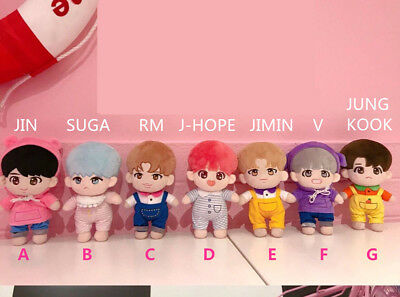 20cm KPOP BTS Plush V JIMIN SUGA RM JUNGKOOK J-HOPE Doll Toy+ clothes【in stock】