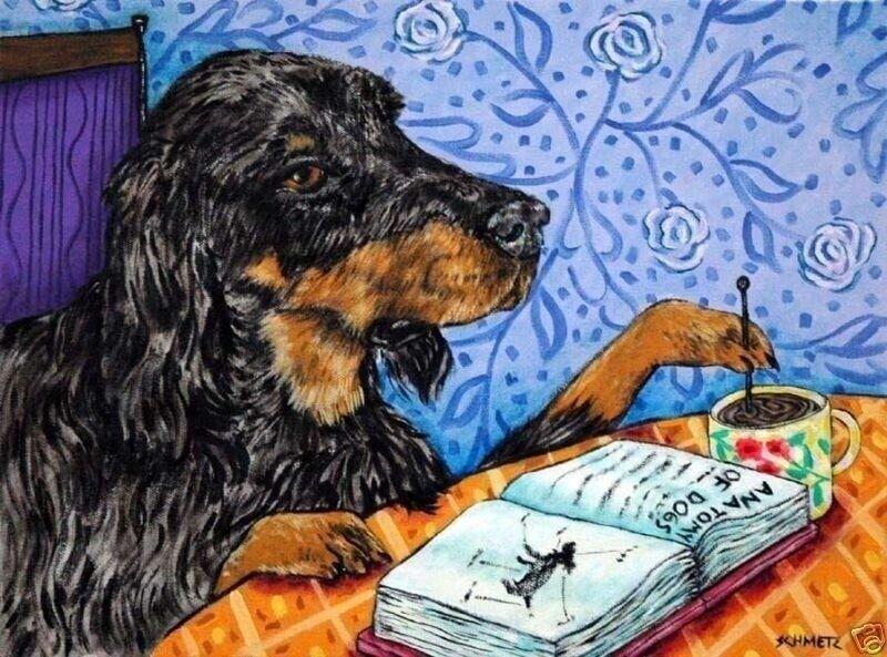 gordon setter COFFEE dog art PRINT 11x17 glossy photo JSCHMETZ