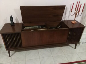 Vintage German Stereo Record Player AFC Radio Cabinet Console