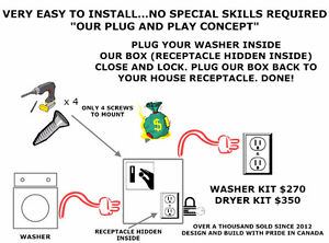 WASHER AND DRYER COIN KIT CONVERSION.....VIEW+PAY+CARRY London Ontario image 8