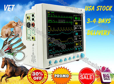 Vet Veterinary Patient Monitor 6 Parameterecgnibpprspo2temprespcefda