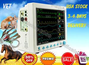 Vet Veterinary Patient Monitor 6 Parameter,ECG,NIBP,PR,Spo2,Temp,Resp,CE,FDA