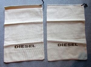 A PAIR OF DIESEL SHOE CLUTCH DUST BAGS NEW BOXES TRAVEL NEW