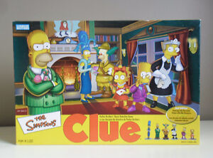 The Simpsons CLUE Board Game 2nd Edition 2002 Bilingual Version