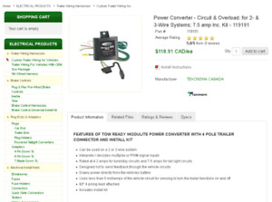 TOW READY MODULITE POWER CONVERTER WITH 4 POLE TRAILER CONNECTOR