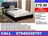 Brand New King Size Leather Bed Available With Mattress