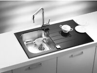 Alveus Glassix 10 glass inset sink with stainless steel bowl RRP £312