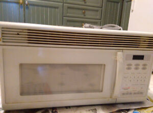 Over the range microwave/range hood combo