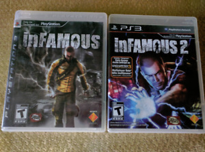 PS3 - inFamous and inFamous 2 - $30