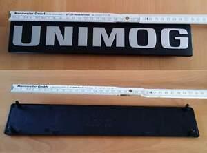 Unimog Schriftzug, Typenschild, große Baureihe, Unimog 424, 425, 435, 437