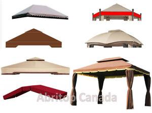 gazebo, balançoire, chaises .... : toile de remplacement