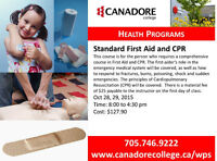 Canadore College, Parry Sound - Standard First Aid and CPR