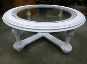 Solid wood glass coffee table London Ontario image 1