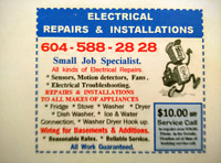 Major or Minor  Electrical ,, & installations