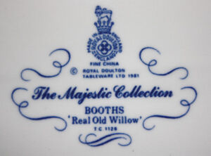Royal Doulton Booths Old Willow China (tc1126)