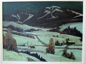 "Keith C. Smith Original Oil on Canvas. Rare  30 x 40"" (1987)"