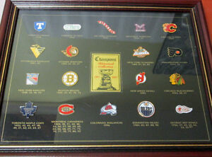 1997 NHL STANLEY CUP CHAMPIONS FRAMED PIN COLLECTION! LEAFS.... Gatineau Ottawa / Gatineau Area image 1