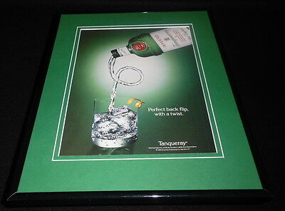 1993 Tanqueray Gin Backflip Framed 11x14 ORIGINAL Advertisement