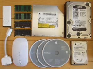 Disque Dur et Memoire Vive pour Mac Apple