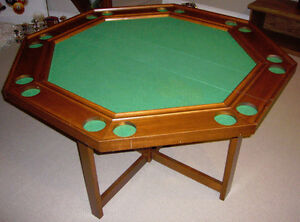 Games/Poker Table & Four Chairs