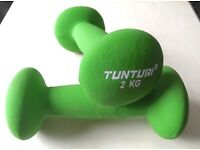 Tunturi 2kg Dumbbells Weights