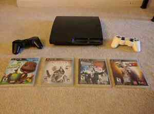 PS3 120GB Bundle, 4 Games, 2 Controllers