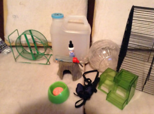 Hamster cage and lots of accessories $ 50
