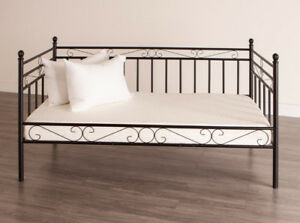 Black, Metal Day Bed