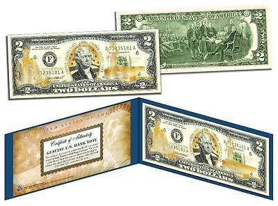 U.S. NAVY *Legal Tender* GOLD HOLOGRAM $2 U.S. BILL **MUST SEE**