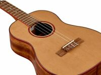 *REDUCED* KALA SOLID CEDAR ACACIA BARITONE UKULELE & CASE. Slotted Headstock -Can Arrange Delivery