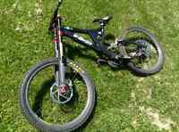 Specialized big hit white brother inverted forks