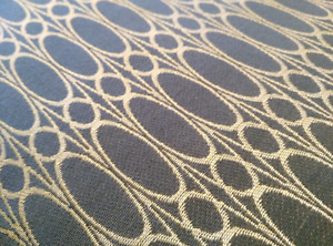Charcoal and gold upholstry fabric