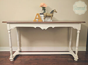 Large Hand Painted Sofa Table