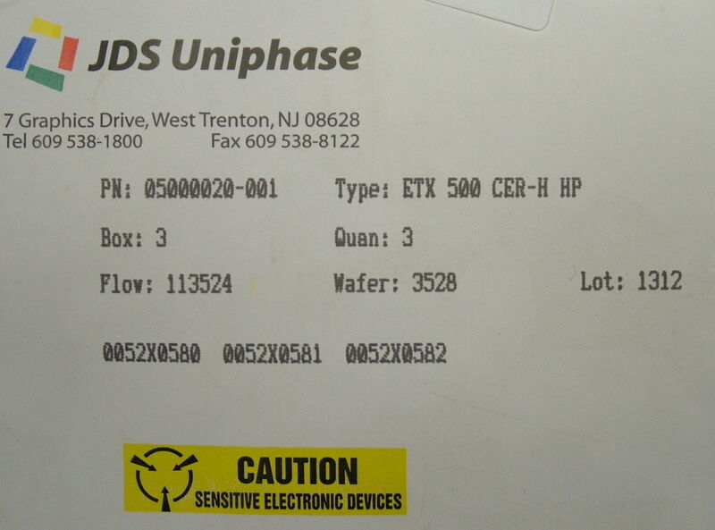 JDSU 05000020-001 ETX 500 CER-H HP PHOTODIODE