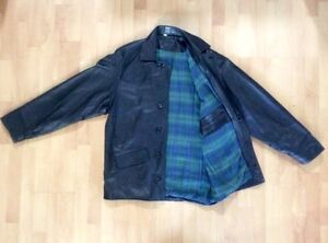 Black Leather Car Coat (Men's) West Island Greater Montréal image 3
