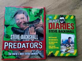 2 x Steve Backshall Children's Books.