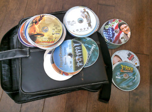 Many DVDs and Zipper case