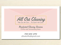 All Out Cleaning - *insured and bonded*