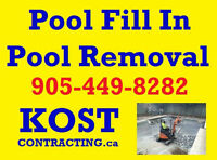 House Demolition Excavation - Pool Fill In & Removal - Etobicoke