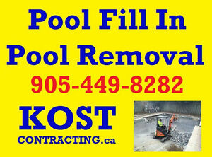 Pool Fill In & Removal - Concrete Demo - Mississauga / Etobicoke