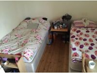 **twin room available for a couple or two friends**
