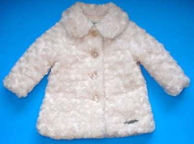 Fabulous & Light! CALVIN  KLEIN JEANS Toddler Girl's Fur Coat Pale Pink Size 12M for sale  Cape Canaveral