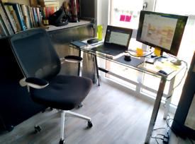 Habitat Mirano OfficeDesk- Clear Glass