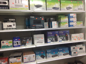 WI-FI BOOSTERS, RANGE EXTENDERS, ROUTERS, SWITCHES GREAT PRICE!!