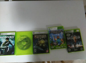Selling 5 Xbox 360 games for $50 (Text & Email only)
