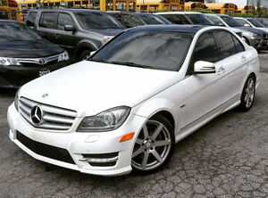 2012 MERCEDES-BENZ C350 AMG PKG|NAVI|PANO ROOF|ACCIDENT-FREE|AWD
