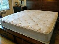 King size well conditions mattresses