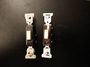 Electrical light switches, receptacle outlets and plates